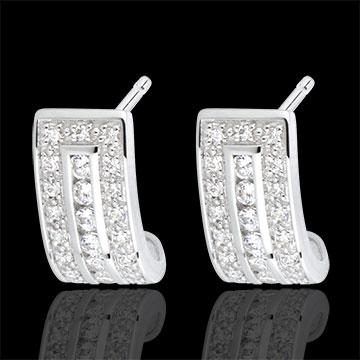 Oorbellen Sterrenbeeld - Zodiac - 18 karaat witgoud met Diamanten