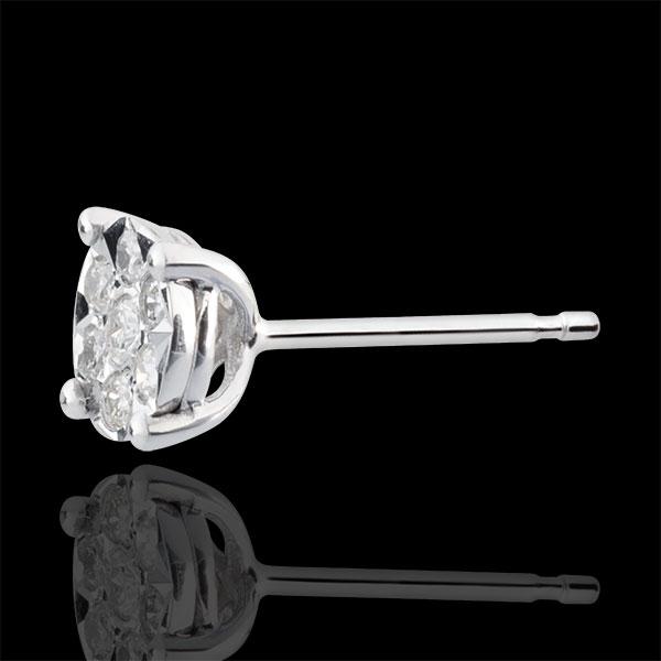Oorbellen Venise - Stud - 14 Diamanten - 9 karaat witgoud