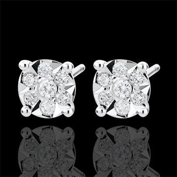 Oorbellen Venise - Stud - 20 Diamanten - 9 karaat witgoud