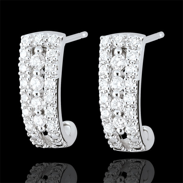 Oorringen Destiny - Medici - Diamant en 18 karaat witgoud