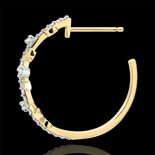 Oorringen Magische Tuin - Gebladerte Royal - 18 karaat geelgoud met Diamanten