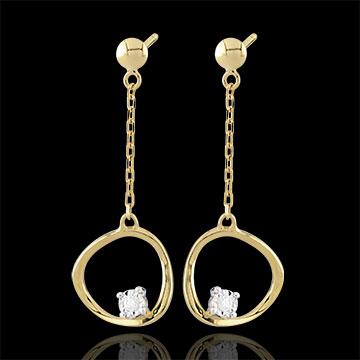 Orecchini Cosmo - Oro giallo - 9 carati - 2 Diamanti