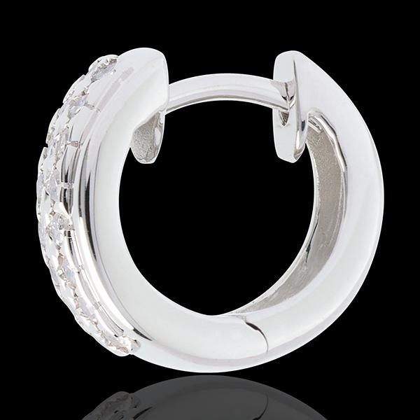 Orecchini Costellazione - Astrale - modello piccolo - Oro bianco - 18 carati - 32 Diamanti - 0.22 carati