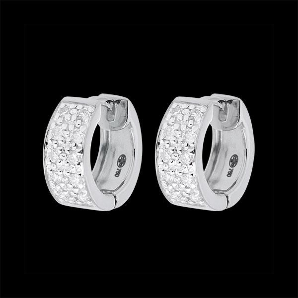 Orecchini Costellazione - Variazione astrale - modello grande - oro bianco - 0.2 carati - 20 diamanti