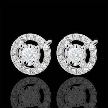 Orecchini Destino - Favorita - Oro bianco - 9 carati - Diamanti
