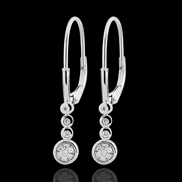 Orecchini diamante Irissa - Oro bianco - 9 carati - 20 Diamanti