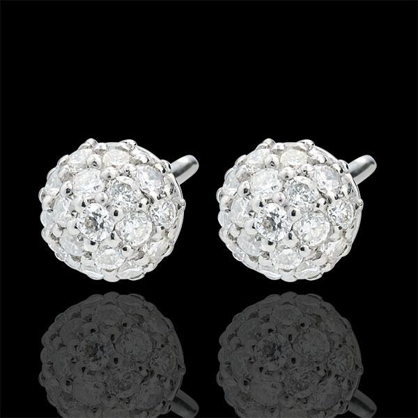 Orecchini Fascino di Diamante - Oro bianco - 9 carati - 54 Diamanti - 0.44 carati