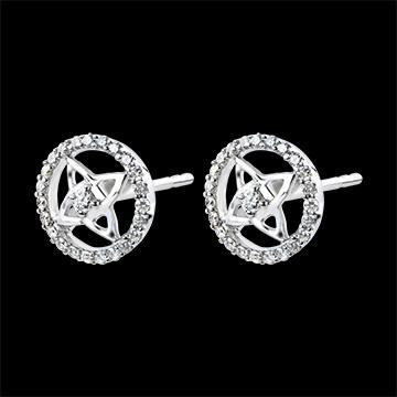 Orecchini Freschezza - oro bianco 9 carati e diamanti