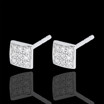 Orecchini Klea - Oro bianco -18 carati - 18 Diamanti