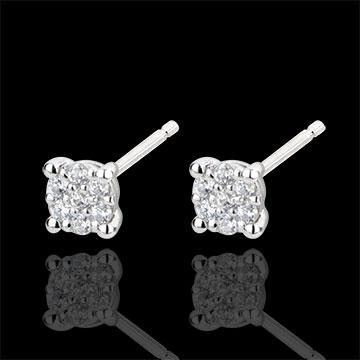 Orecchini Miriade di stelle - Oro bianco - 18 carati - 14 Diamanti