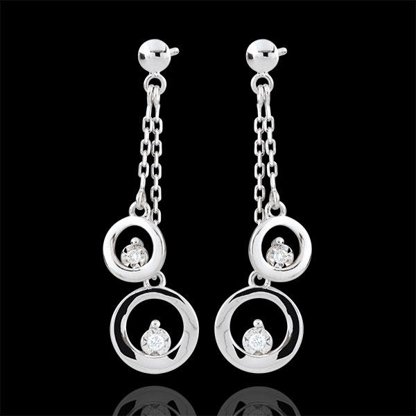 Orecchini Odalie - Oro bianco - 9 carati - 4 Diamanti