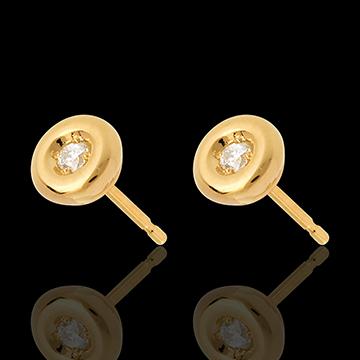 Orecchini Punto luce diamante - Calice - Oro giallo - 18 carati - Diamanti - 0.08 carati