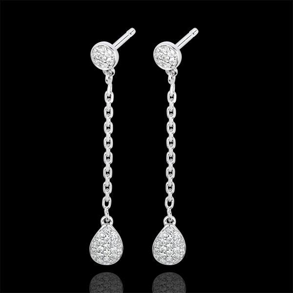Orecchini Rianna - Oro bianco - 18 carati - 58 Diamanti - 0.22 carati
