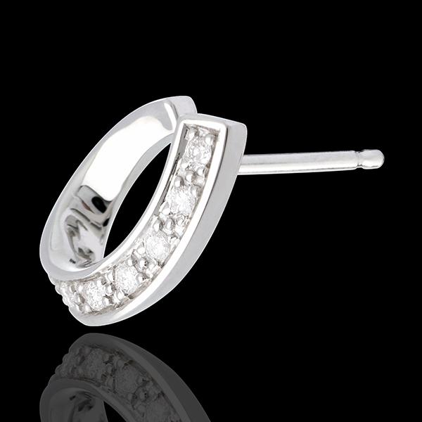Orecchini Tirabaci- Oro bianco - 18 carati - Diamante - 0.15 carati