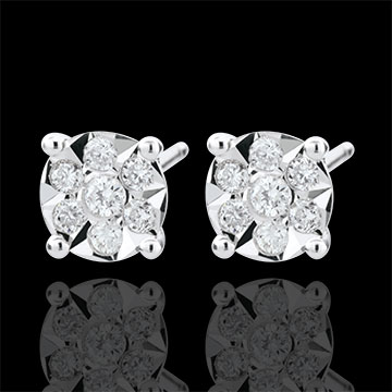 Orecchini Venezia - Oro bianco - 9 carati - 20 Diamanti - 0.15 carati