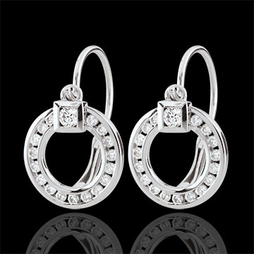 Orecchini Vivace - Oro bianco - 18 carati - 36 Diamanti - 0.27 carati
