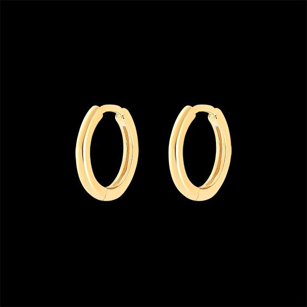 Une paire de boucle d'oreille Mix en or jaune 9 carats