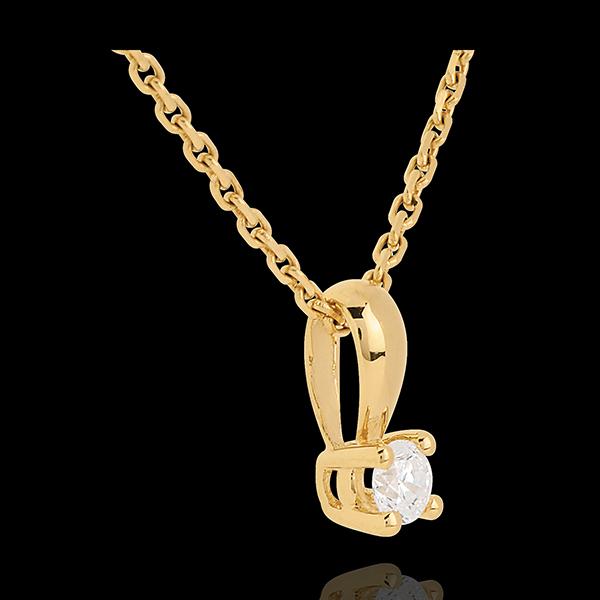 Pandantiv diamant cu anou din aur galben de 18K