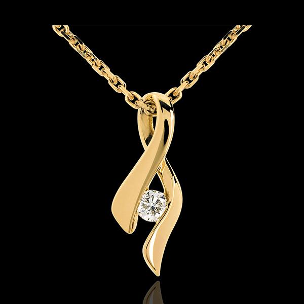 Pandantiv Infinit aur galben de 18K diamant - 0,13 carate