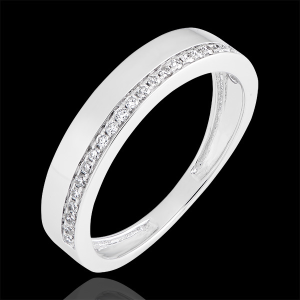 Passion Ring - variation - 18K white gold and diamonds