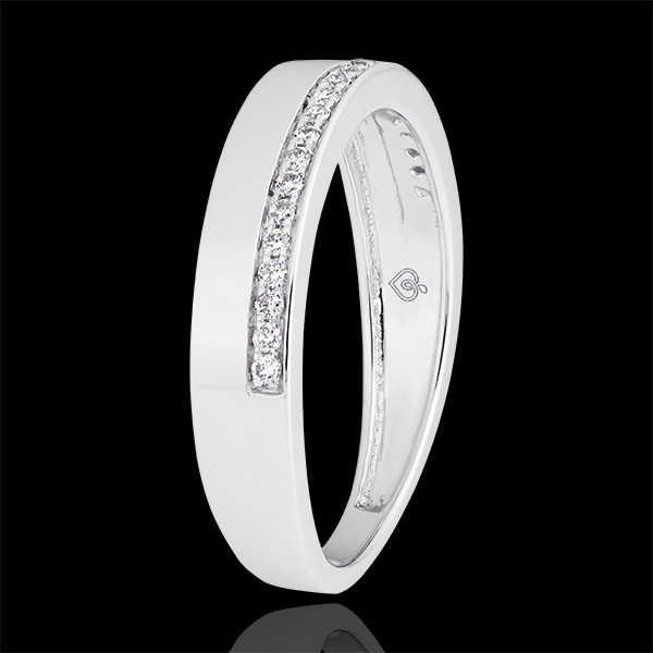 Passion Ring - variation - 9K white gold and diamonds