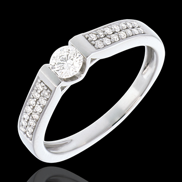 Paved White Gold Diamond Set Shoulder Arch - 0.38 carat - 29diamonds