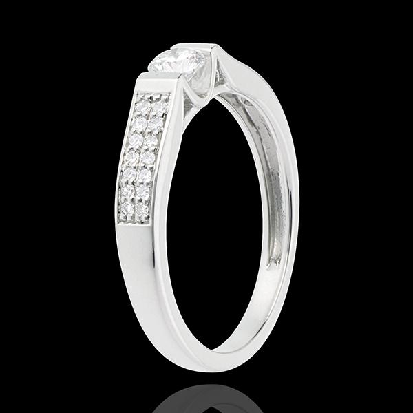 Paved White Gold Diamond Set Shoulder Arch - 0.38 carat - 29diamonds
