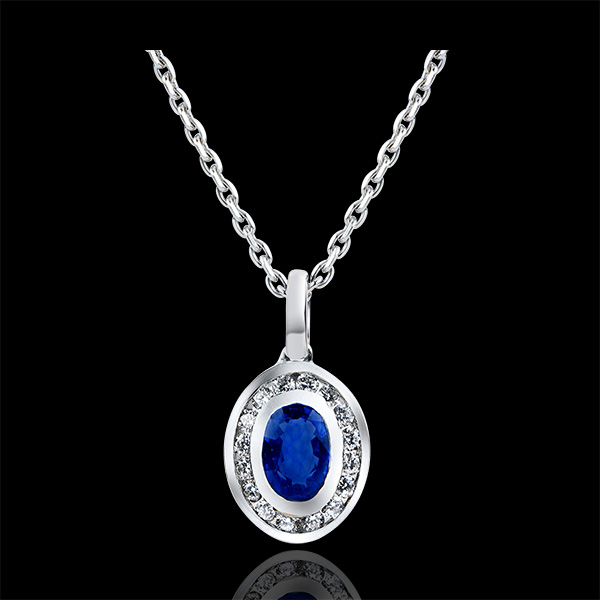 Pendant Abundance - Clelia - white gold 9 carats and diamonds