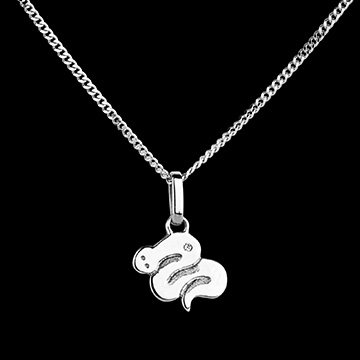 Baby snake - small model - white gold - 9 carat