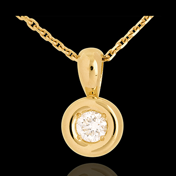 Chalice drop pendant yellow gold - 0.28 carat