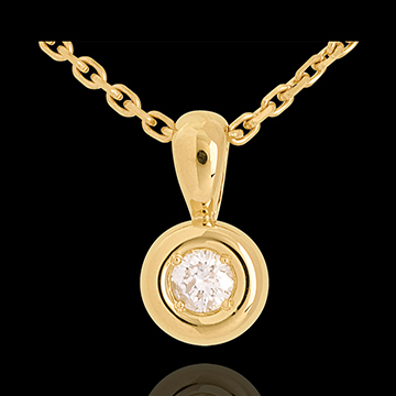Chalice drop pendant yellow gold