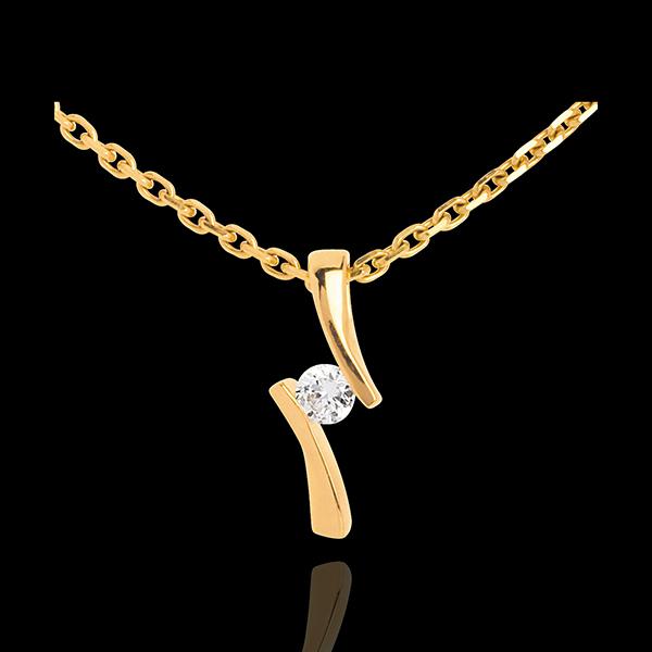 Pendentif apostrophe diamant - or jaune 18 carats - 0.09 carat