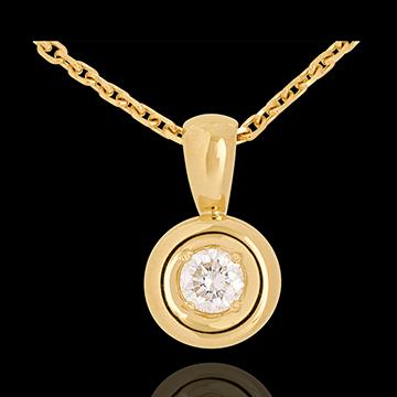 Pendentif Calice belière or jaune 18 carats - 0.23 carat