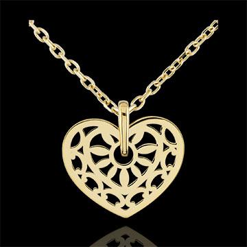 Pendentif Coeur Sortilège d'amour - or jaune 9 carats