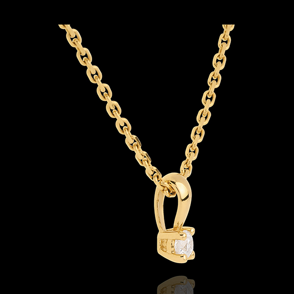 Pendentif diamant belière or jaune 18 carats - 0.11 carat