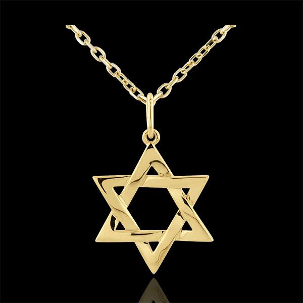 Pendentif Étoile de David - or jaune 9 carats