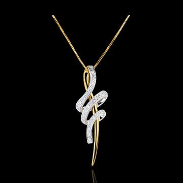 Pendentif noeud serpent - or blanc et or jaune 18 carats