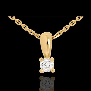 Pendentif diamant belière or jaune 18 carats
