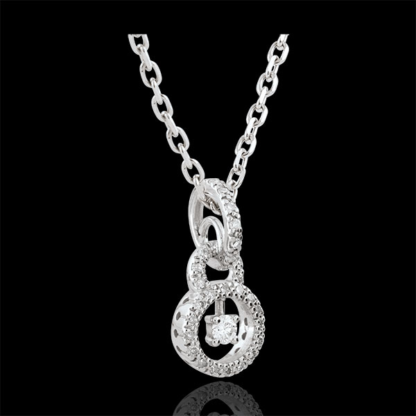 Pendentif or blanc 9 carats Scarlet - 31 diamants