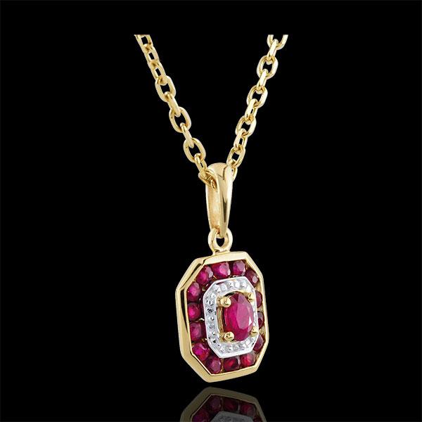 Pendentif Oriade - Rubis - or jaune 9 carats