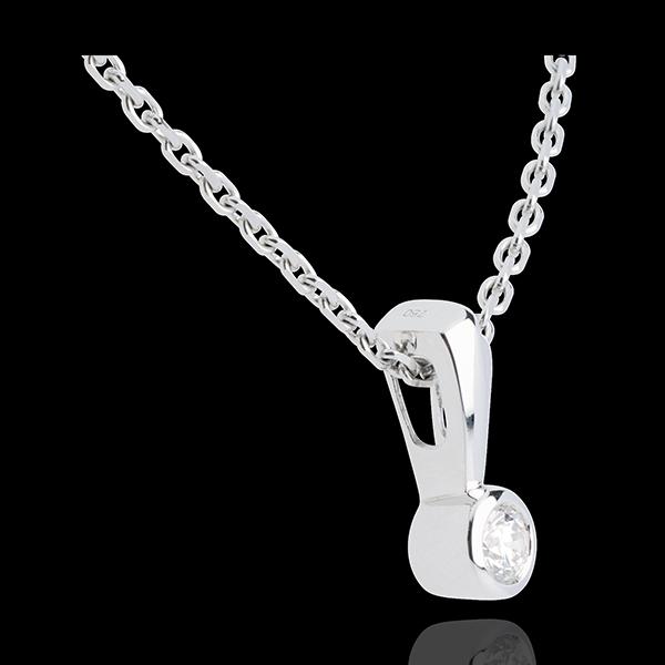Pendentif trophée or blanc 18 carats - 0.16 carat