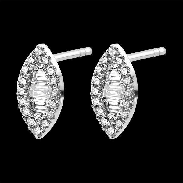 Pendientes Abundancia - Mirada Levante - oro blanco de 9 quilates y diamantes