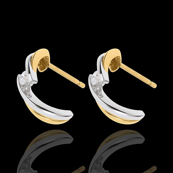Pendientes Aventura Para Dos - oro blanco y oro amarillo 18 quilates