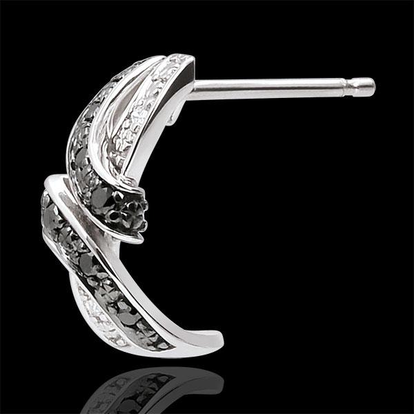 Pendientes Claroscuro - Rendez- vous - oro blanco 9 quilates - diamantes negros