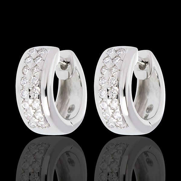 Pendientes Constelación - Astral - pequeño modelo - oro blanco 18 quilates - 32 diamantes 0. 22 quilates