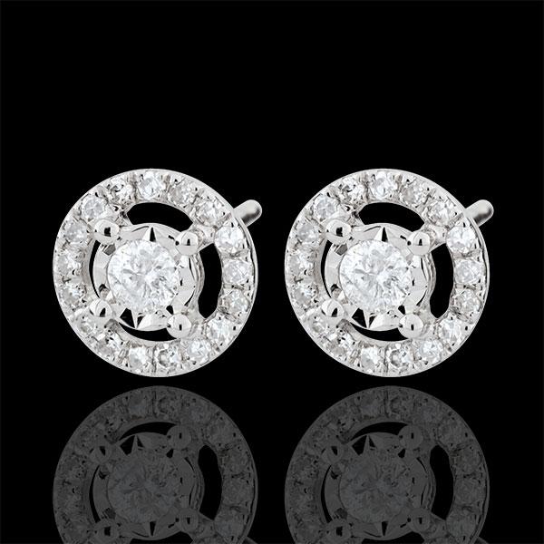 Pendientes Destino - Favorito - oro blanco 9 quilates