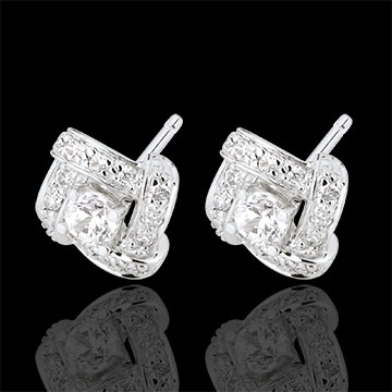 Pendientes Destino - Princesa Persa - oro blanco 18 quilates y diamantes