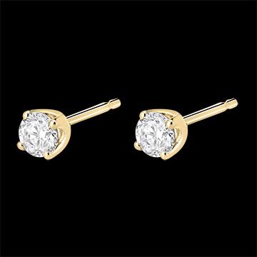Pendientes diamantes - cortos oro amarillo - 0.4 quilates