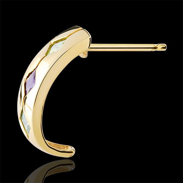 Pendientes Fantasía - oro amarillo 9 quilates - Topacio, amatista, periodoto