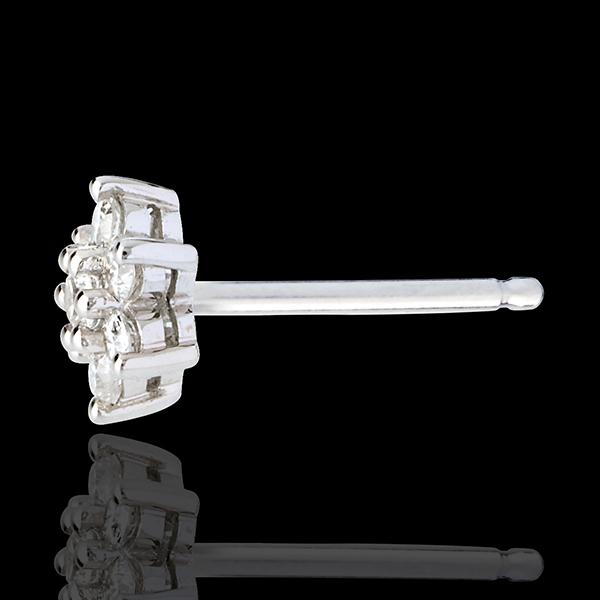 Pendientes Lotus - oro blanco empedrados 18 quilates y diamantes
